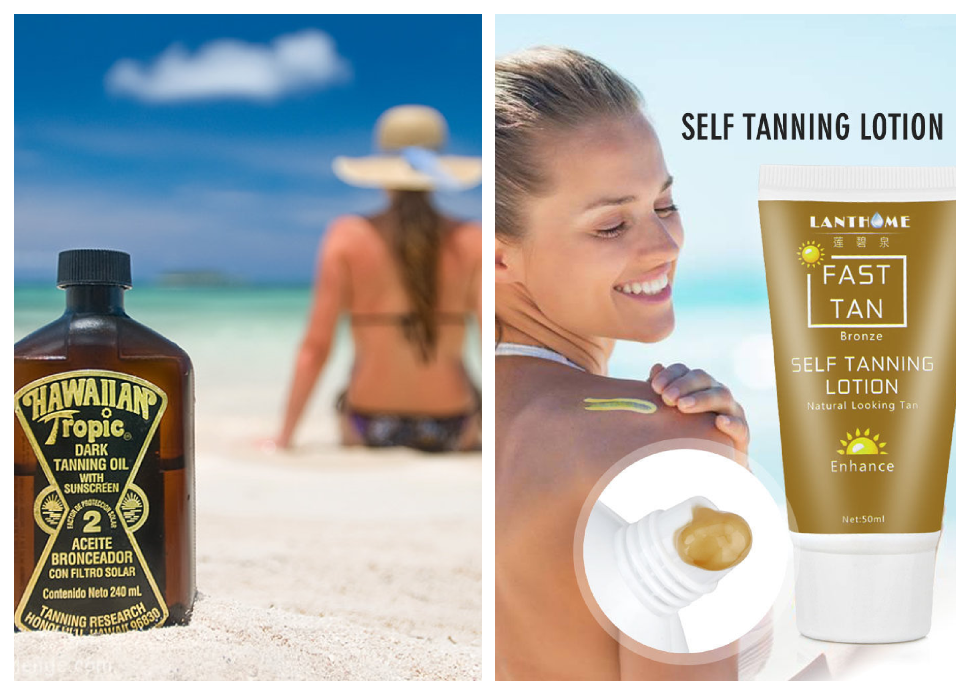Tanning lotion vs Tanning Oil