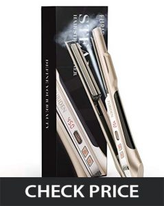 Furiden professional steam straightener with floating plates