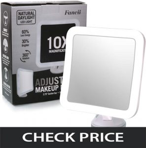 Fancii Magnifying Lighted Makeup Mirror
